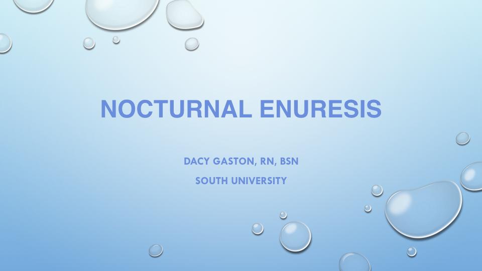 Nocturnal Enuresis -