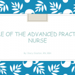 Role of the Advanced Practice Nurse